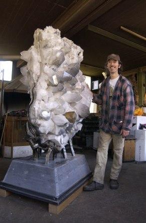 1150 kg Schweizer Bergkristall Stufe