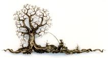 Fischer mit Baum