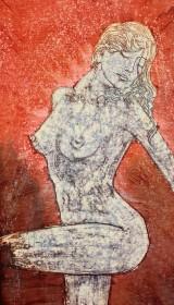 Akt im Skizzen Batik